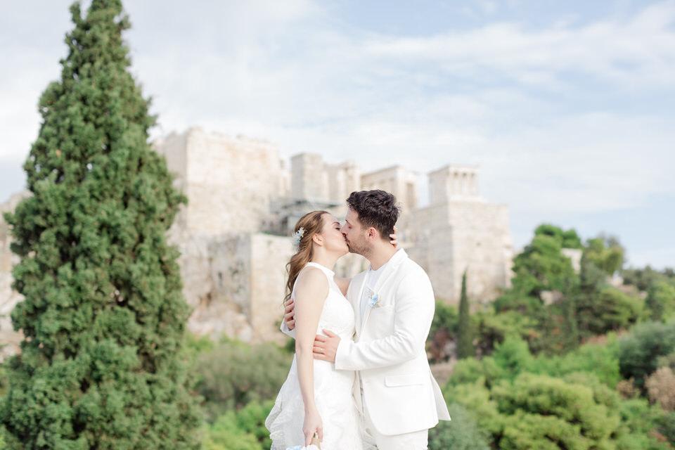 Elopement in Athens Greece & Greek islands